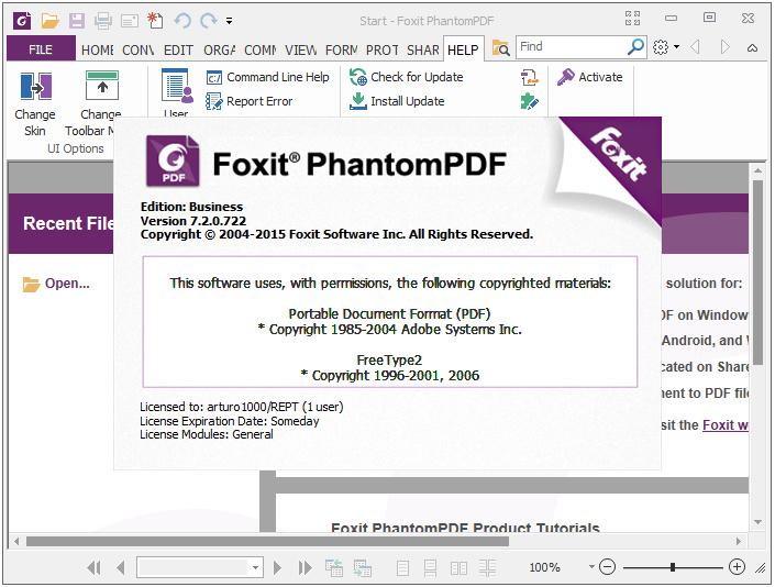 Foxit PhantomPDF Business s1