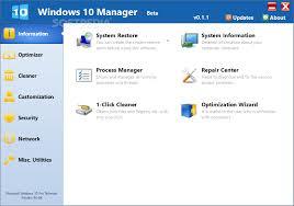 Yamicsoft Windows 10 Manager s1